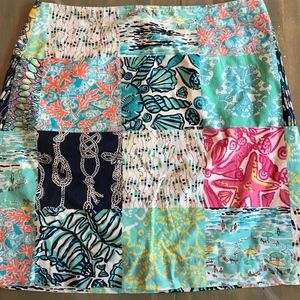 Lilly Pulitzer Patch Skirt--size 2